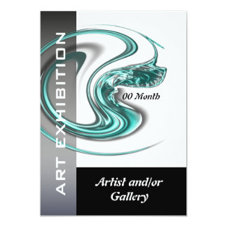 Art show gallery exhibition jewelry CUSTOMIZE 13 Cm X 18 Cm Invitation Card