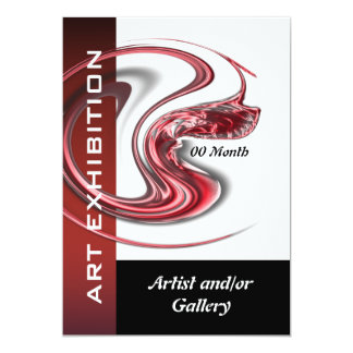 Art show gallery exhibition jewelry CUSTOMIZE Card