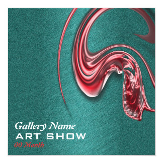 Art show gallery exhibition opening CUSTOMIZE 13 Cm X 13 Cm Square Invitation Card
