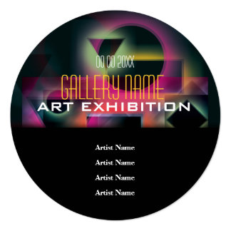 Art show gallery exhibition opening CUSTOMIZE Card
