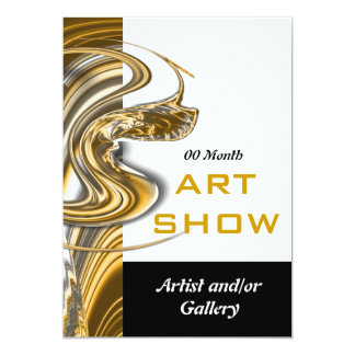 Art show jewelery opening launch 13 cm x 18 cm invitation card