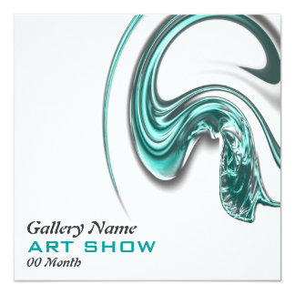 Art show jewelery opening launch CUSTOMIZE 13 Cm X 13 Cm Square Invitation Card