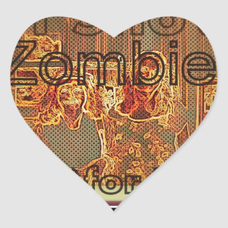 """Art Show Zombies for Peace"" Heart Sticker"