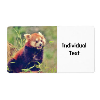 Art Studio 15216 red Panda Shipping Label