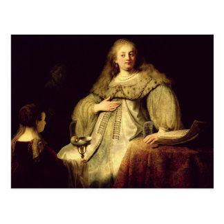 Artemisia, 1634 postcard