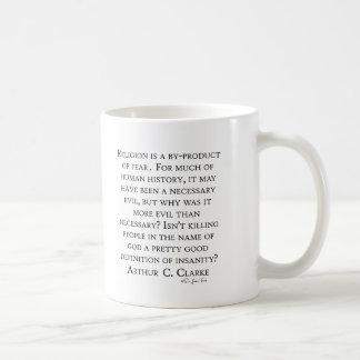 Arthur C Clarke On Religion Basic White Mug