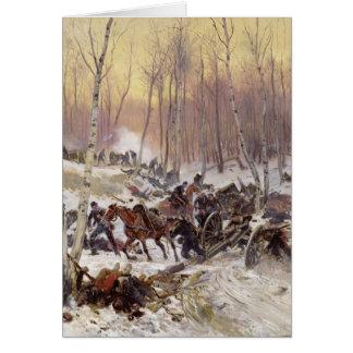 Artillery Combat in a Wood Card