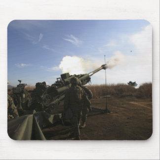 Artillerymen fire a 155mm round mouse pad