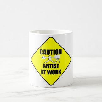 artist at work sign coffee mug
