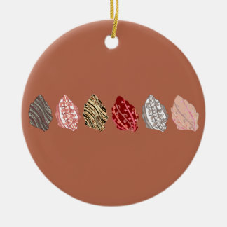 Artistic Autumn Leaves Christmas Ornament