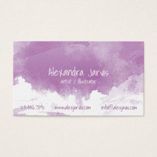 Artistic Brushed Watercolour - Purple