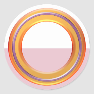 Artistic  Color Shades: Organizing Writing Tools Round Sticker