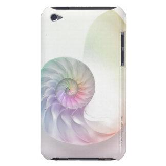 Artistic colored nautilus image iPod Case-Mate cases