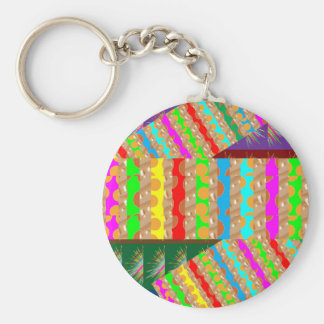 ARTISTIC Colorful Patch work: Great Gift OCCASIONS Key Ring