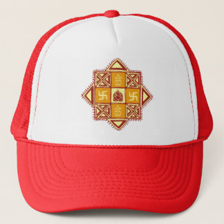 Artistic Ganesh with Mandana Trucker Hat