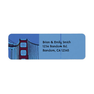 Artistic Golden Gate Bridge san fran labels