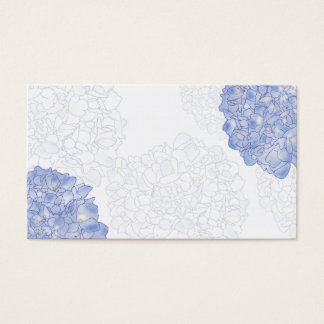 Artistic Hydrangea Place Cards, Medium Business Card