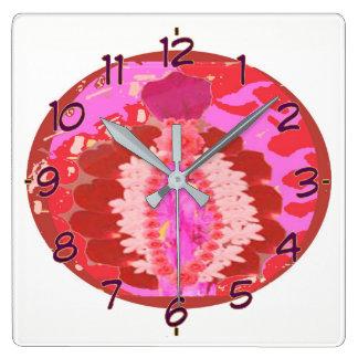 Artistic Rose Petal Arrangement Wallclock