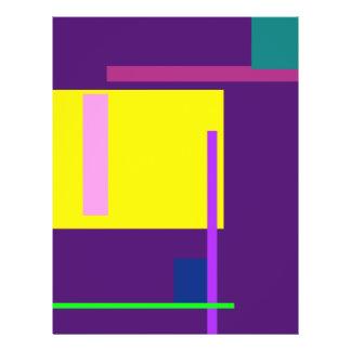 Artistic Space Dark Purple Custom Flyer
