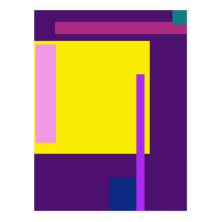 Artistic Space Dark Purple Postcard