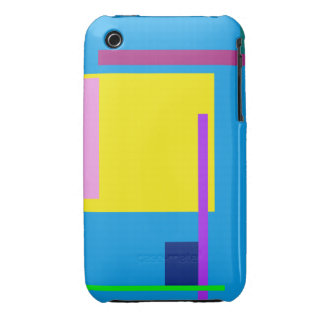 Artistic Space Dodger Blue iPhone 3 Case-Mate Cases
