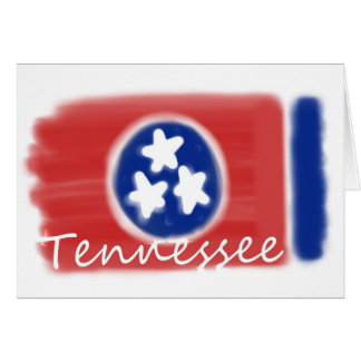 Artistic Tennessee state flag design Greeting Card