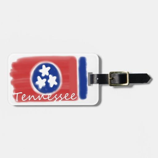 Artistic Tennessee state flag design Travel Bag Tags