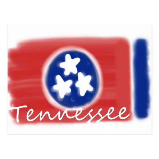Artistic Tennessee state flag design Post Cards