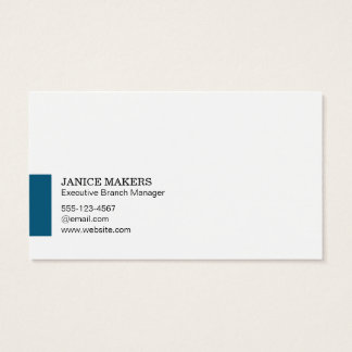 Artistic Tree (blue accent) Business Card