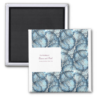 Artistic wedding square magnets