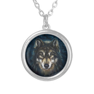 Artistic Wolf Face Necklace