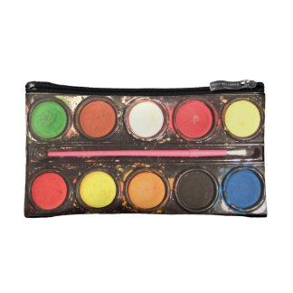 Artist's colourful paint colour box cosmetic bag