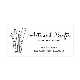 Arts and Crafts Supplies Business Information Rubber Stamp