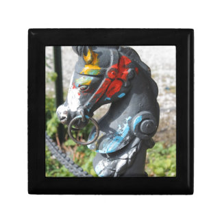Artsy Colorful Horse Hitching Post, New Orleans Gift Box