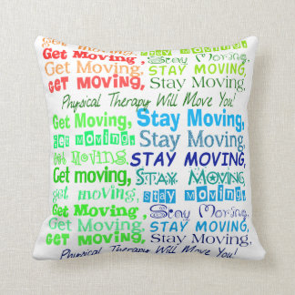 Artsy Physical Therapy Pillow Throw Cushion