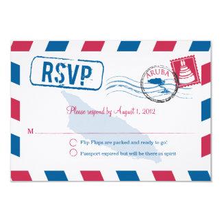 Aruba Air Mail Wedding RSVP Card