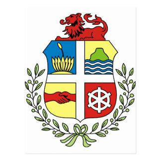 Aruba Coat of arm AW Postcard