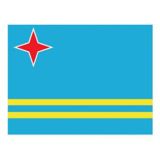 Aruba Flag Postcard
