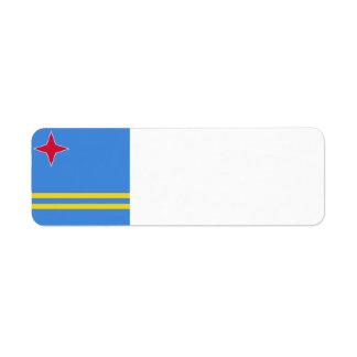 Aruba Flag Return Address Label