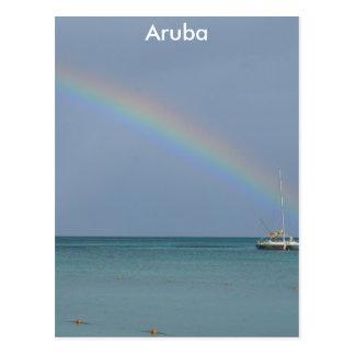 Aruba Rainbow Postcard