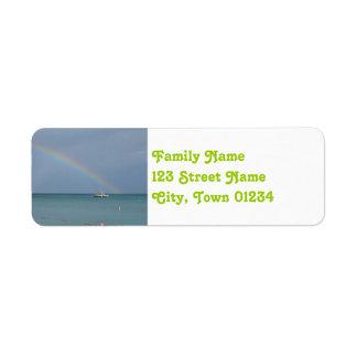 Aruba Rainbow Return Address Label