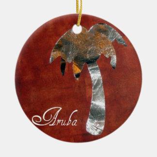 Aruba Round Ceramic Decoration