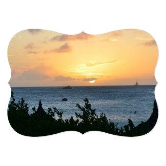 Aruba Setting Sun Card