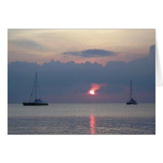 Aruba Sunset Card