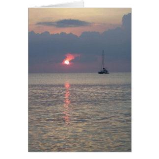 Aruba Sunset vertical Card