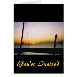 Aruba Sunset You're Invited Card