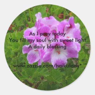 As I Pray Today Round Sticker