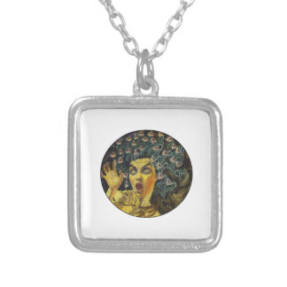 AS MEDUSA IS SILVER PLATED NECKLACE