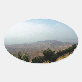 As Salt, Jordan Border Oval Sticker