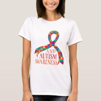 ASD Autism Autistic Spectrum Disorder Puzzle Ribbo T-Shirt